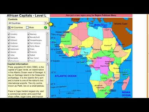 Learn the capitals of Africa! Geography Tutorial Game