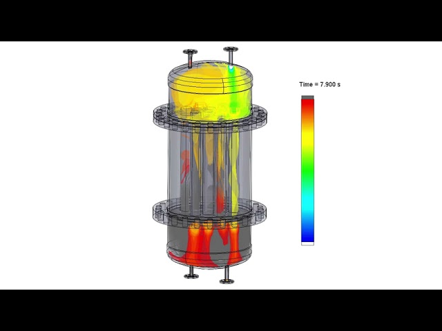 Computational fluid dynamics simulation of reactor air flush procedure