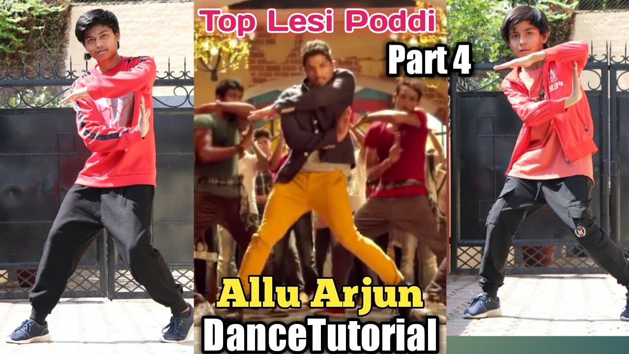 Allu Arjun - Epic Dance Moves Tutorial   Top Lesi Poddi   Part-4   Step by Step   Iddarammayilatho