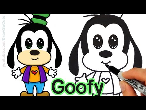 How to Draw Goofy Easy step by step from Disney Cuties