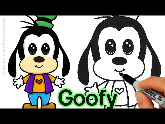 How To Draw Goofy Easy Step By Step From Disney Cuties Youtube