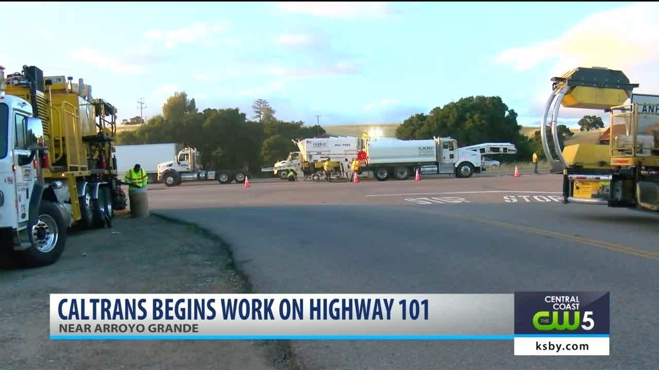 Work begins removing El Campo Road and Highway 101 intersection