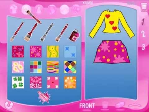 Игра Барби Показ мод - 2 . Создание коллекции