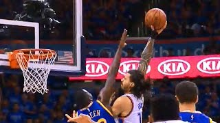 Steven Adams POSTERIZES Draymond Green with the EMPHATIC JAM