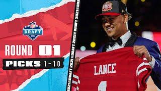 Pick 1-10: 3 Quarterbacks, The Highest Drafted TE, \u0026 A Late Trade! | 2021 NFL Draft
