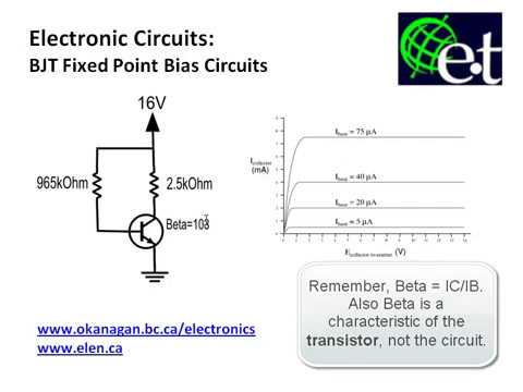 fixed circuit diagram bjt fixed point bias circuit youtube  bjt fixed point bias circuit youtube