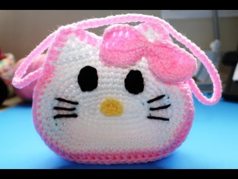 "Como tejer Bolista de ""Hello Kitty"" (Subtitles in English) Parte 1/ Part 1"