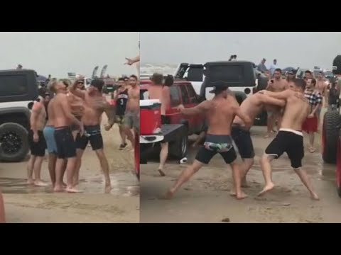 Dickerman - Huge Brawl Erupts At 'Go Topless' Beach Party