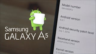 Galaxy A5 2015 - OFFICIAL UPDATE MARSHMALLOW 6.0.1