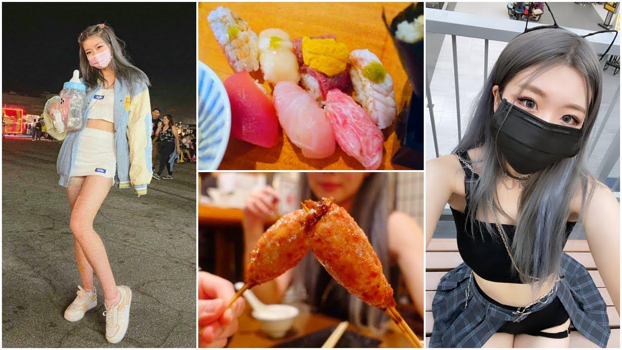 go out with me! [vlog] night market, sushi & yakitori, hmart, taobao haul