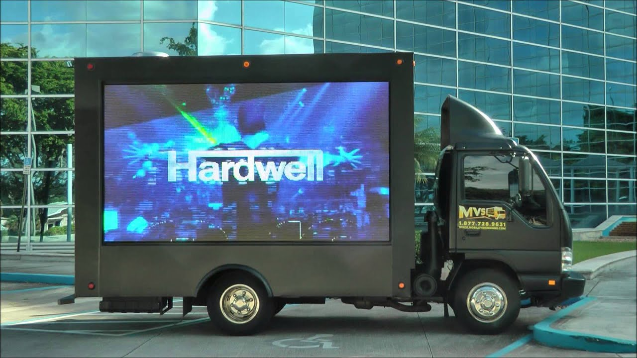 Mobile Digital LED Billboard truck in Miami and Los Angeles