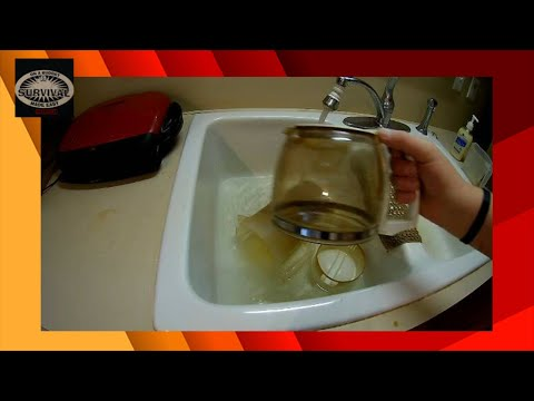 remove coffee stains from coffee pot (life hacks)