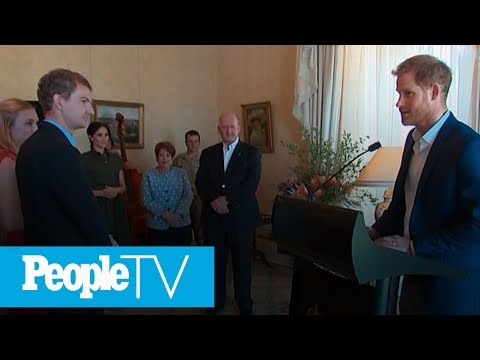 Prince Harry And Meghan Markle Attend Afternoon Reception At Admiralty House | PeopleTV from YouTube · Duration:  1 minutes 7 seconds