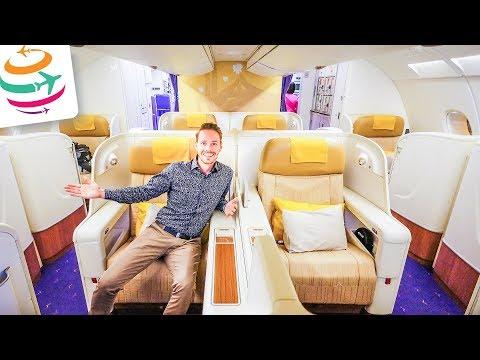 Thai Airways Royal First Class (ENG) A380 Smooth as silk  | GlobalTraveler.TV