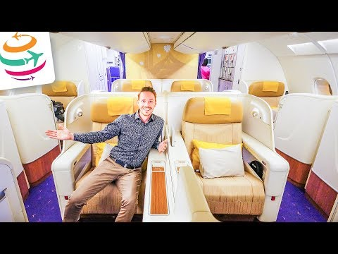 Thai Airways Royal First Class (ENG) A380 Smooth as silk  | GlobalTraveler.TV