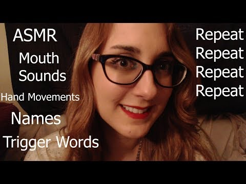 Fast Trigger Words into Mouth Sounds | Hypnotizing Close-up Hand Movements | Feb Patreon Names