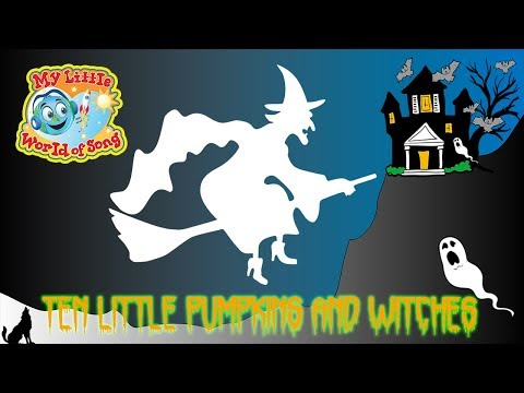 10 Little Pumpkins And Witches  Halloween Song