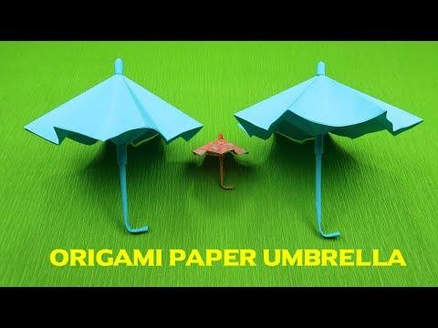How to make a paper Umbrella   Origami umbrella   paper umbrella   DIY Paper Umbrella