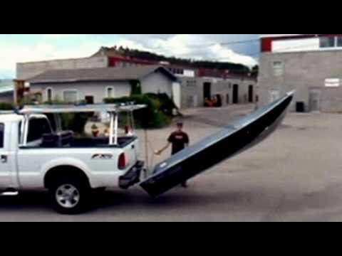 Homemade Kayak Racks For Trucks Rear Boat Loader Demo - YouTube
