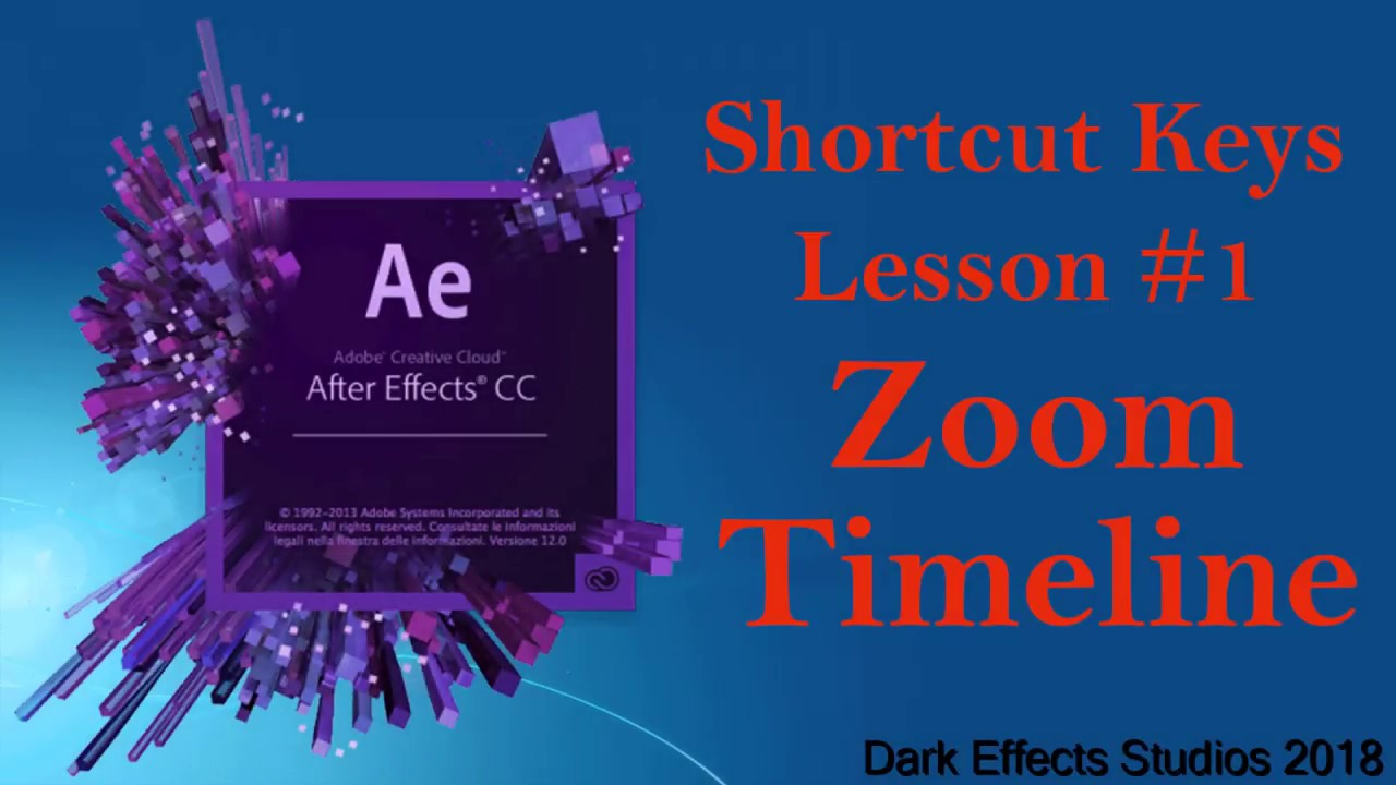 cb0dc9ebff Adobe After Effects - Shortcut Keys to Zoom in and out of Timeline ...