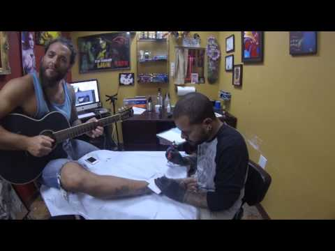 Benjah gets dove tattoo on his foot