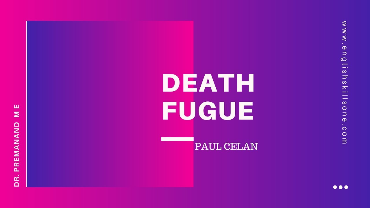 DEATH FUGUE | Paul Celan | Spectrum | Calicut University - YouTube