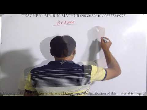 How to write a Resume | Business communication | Mathur Sir Classes