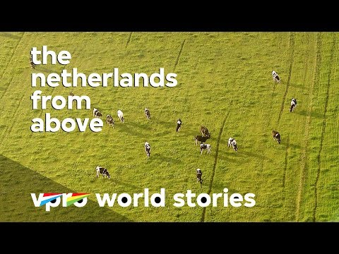 Dutch free range farming - The Netherlands from above