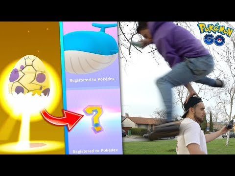 Download Youtube: THE RAREST HATCH IN POKÉMON GO! + Registering WAILORD to the Dex!