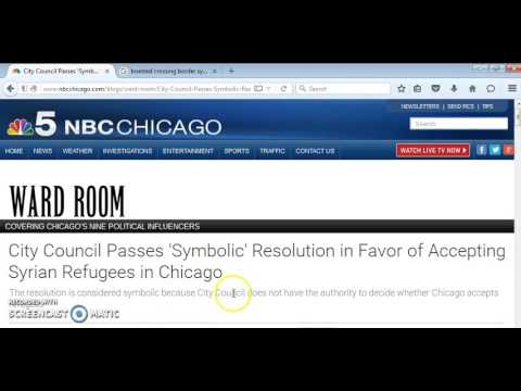 """""""CHICAGO CITY COUNCIL PASSES SYMBOLIC RESOLUTION IN FAVOR OF ACCEPTING SYRIAN REFUGEES"""""""