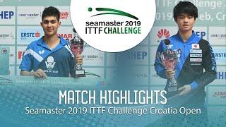 Kanak Jha vs Uda Yukiya | 2019 ITTF Challenge Croatia Open (U21-Final)