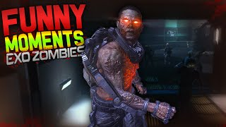 COD Advanced Warfare Exo Zombies Funny Moments - Fake Easter Eggs, Southpaw, Infected!