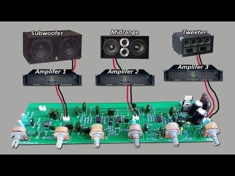 Active Crossover Circuit Subwoofer-Midrange-Tweeter