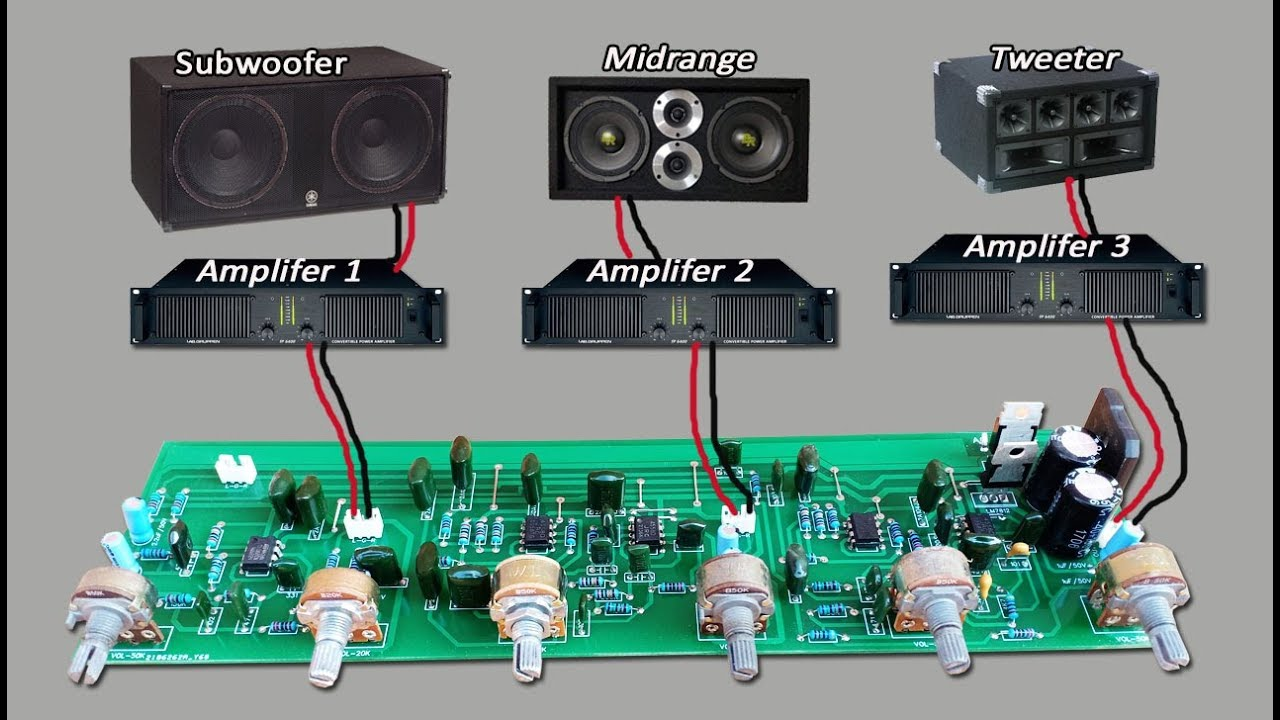 active crossover circuit subwoofer midrange tweeter youtube. Black Bedroom Furniture Sets. Home Design Ideas