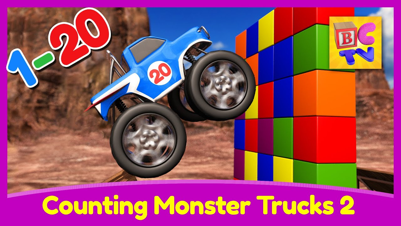 Counting Monster Trucks Learn To Count From To To For