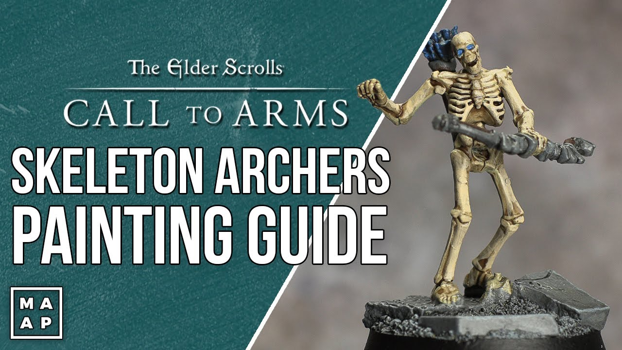 How to Paint Skeleton Archer's from Elder Scrolls Call to Arms