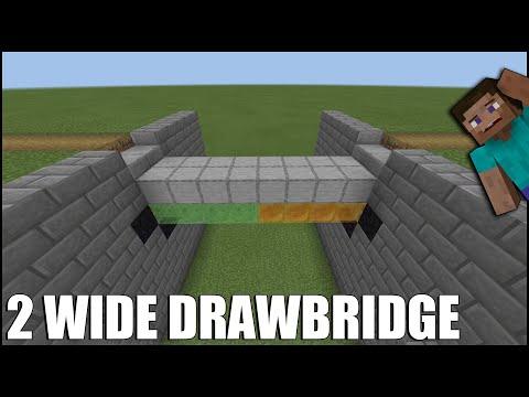 How To Build A 2 Wide Drawbridge In Minecraft Bedrock!