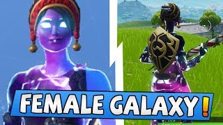 My *NEW* Female Galaxy Fortnite skin (Unique Custom Skin)