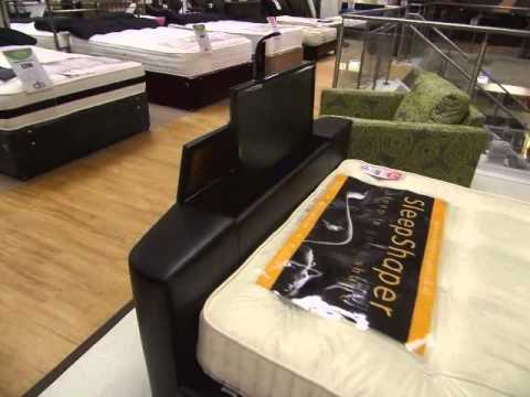 Luxury Texas Faux Leather TV Bed   YouTube