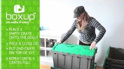 How to Use Plastic Moving Crates and Dollies - BoxUp