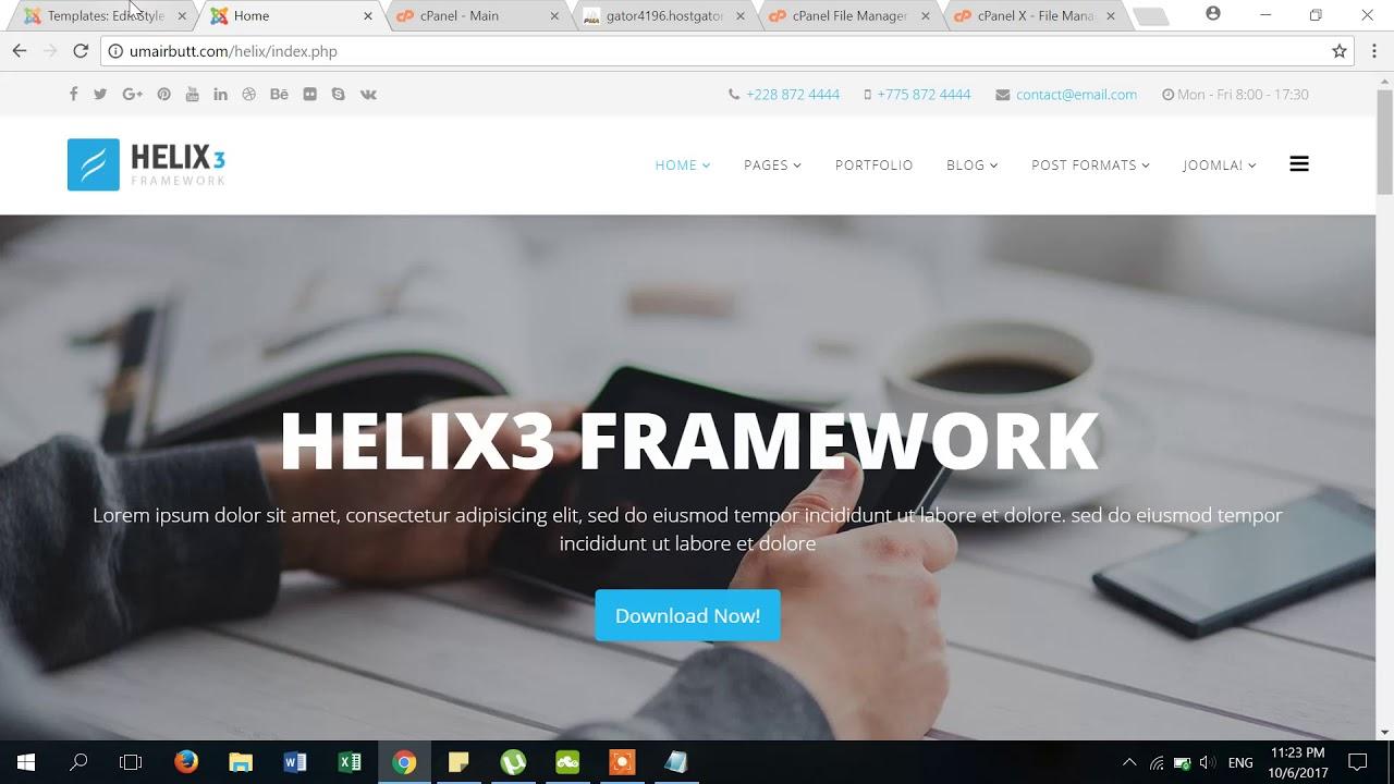 How to rename Helix3 Template in Joomla Part 2 - Joomla Template ...