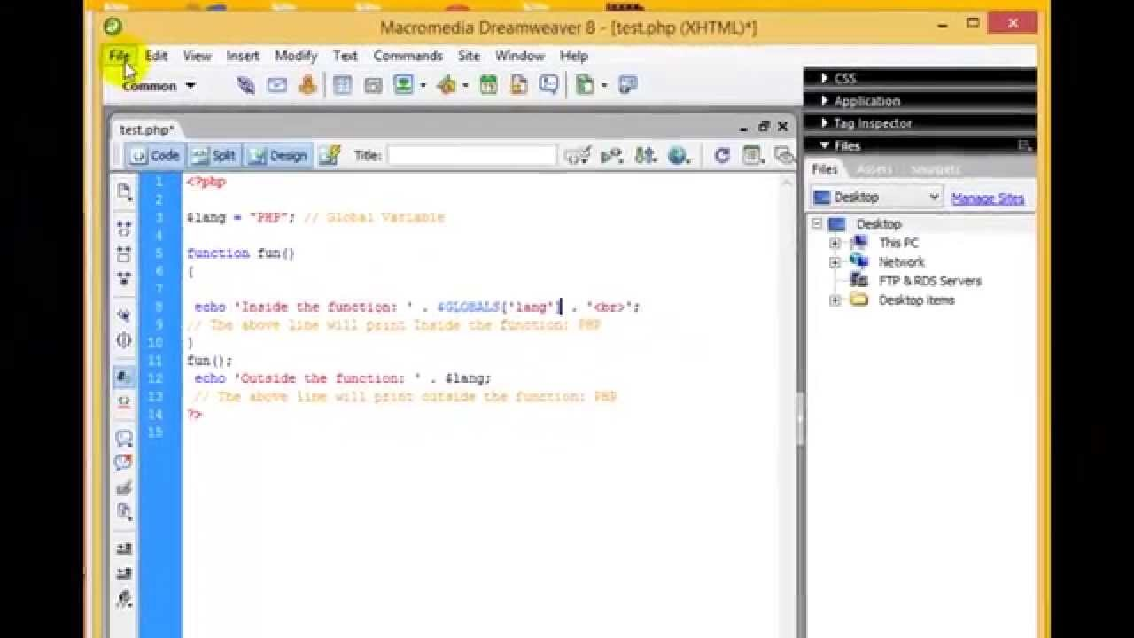 PHP Tutorial - Global Variable, Local Variable, Static Variable and  Function (PHP For Beginners)