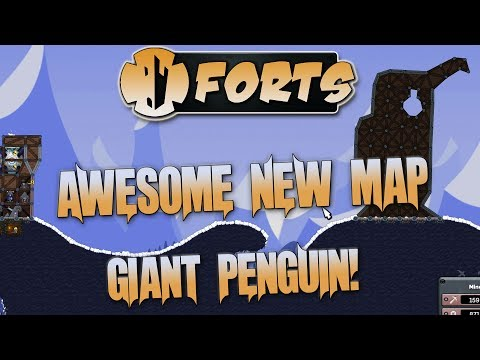 Forts Multiplayer 1v1 Gameplay Awesome New Penguin Map! New Spook Abilities!