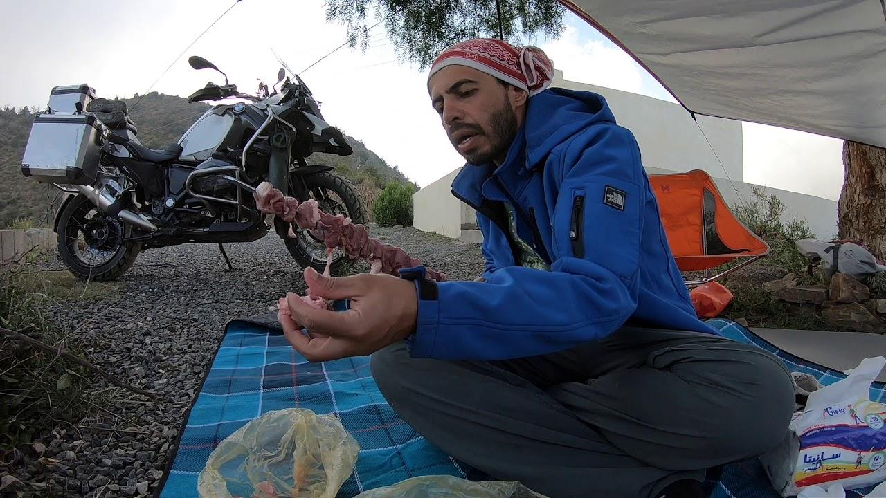 حياه البريه في خيشعه بالدراجه WILDERNESS LIFE by BMW GS1200 in Aseer, SAUDI ARABI