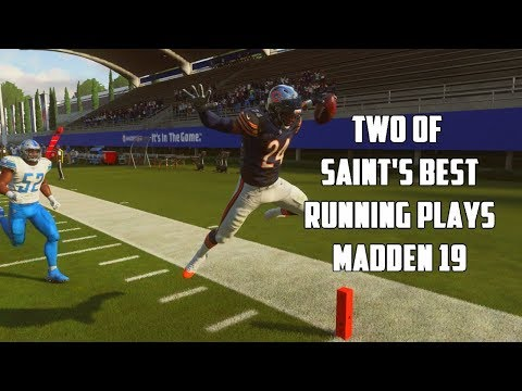 BEST TWO SAINTS RUN PLAYS IN MADDEN 19 | DESTROY ANY DEFENSE FOR LOTS OF YARDS