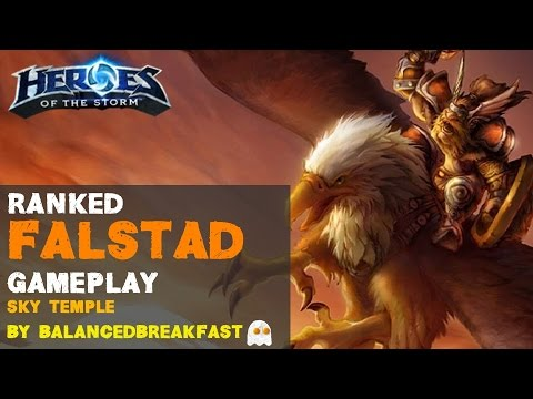 Heroes of the Storm - Falstad Ranked Gameplay - Ability Driven DPS