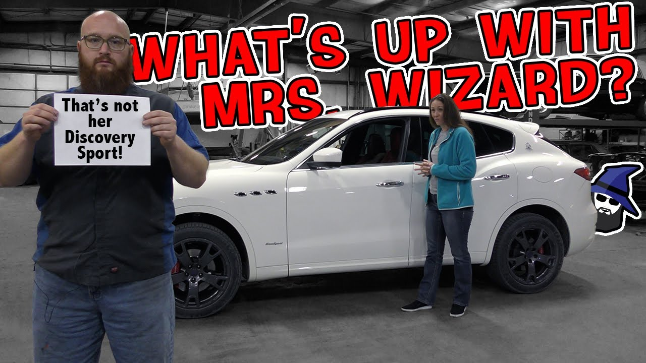 Did Mrs.Wizard get a new car? That's not her Land Rover! What's going on at the CAR WIZARD's shop?