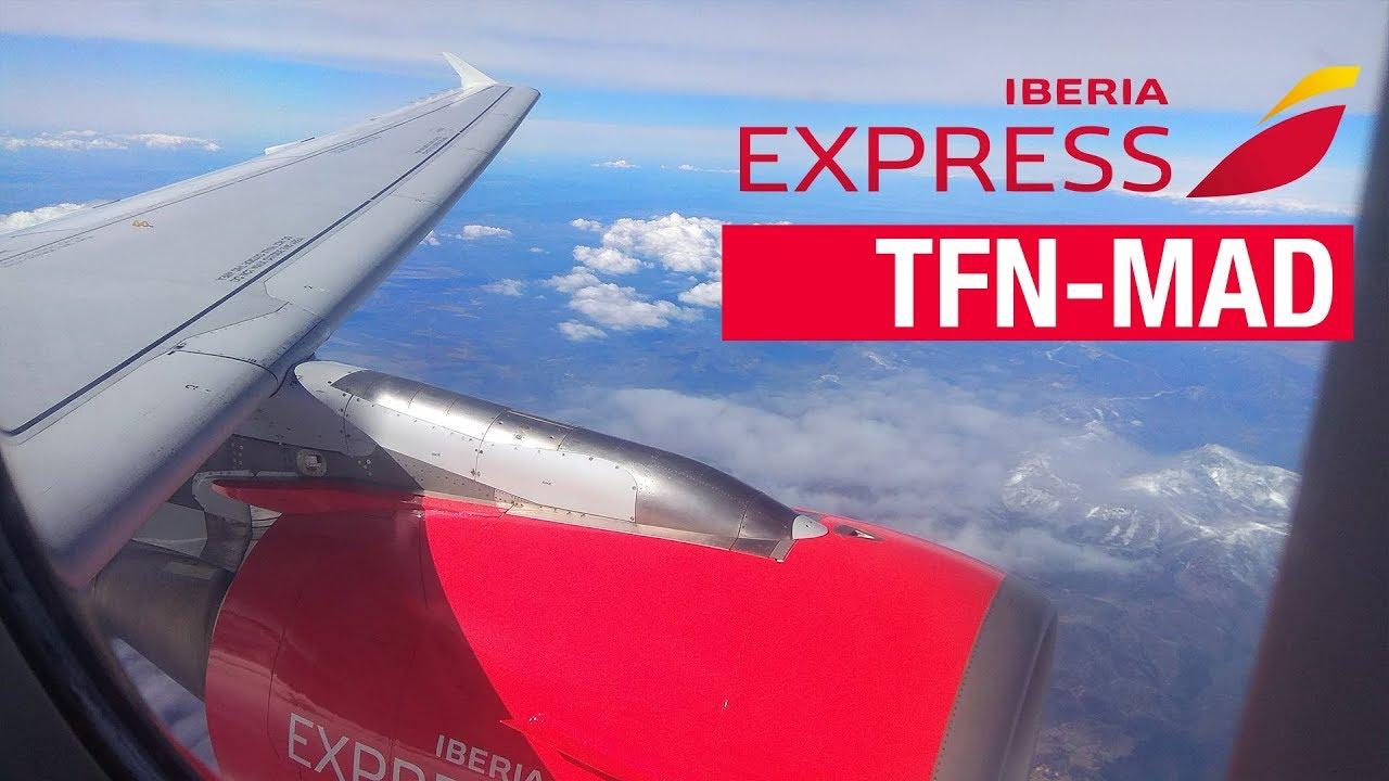 Flight Report Tenerife Norte Madrid Iberia Express A320 214