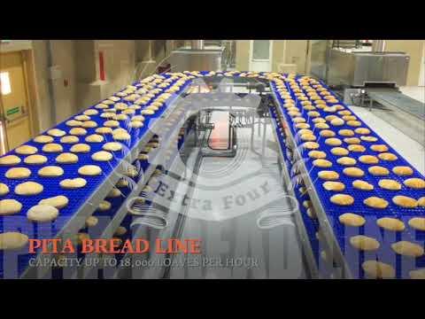 Pita - Arabic - Lebanese Bread Lines / Bakery Equipment خطوط إنتاج الخبز