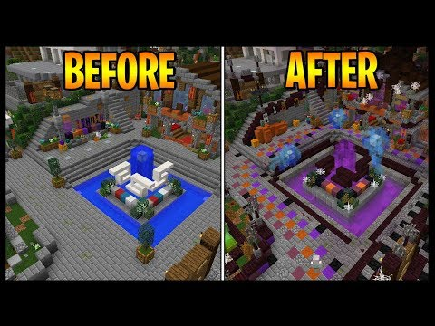 How To Transform Your Minecraft World Into A Halloween One.. *EASY TIPS & TRICKS!*